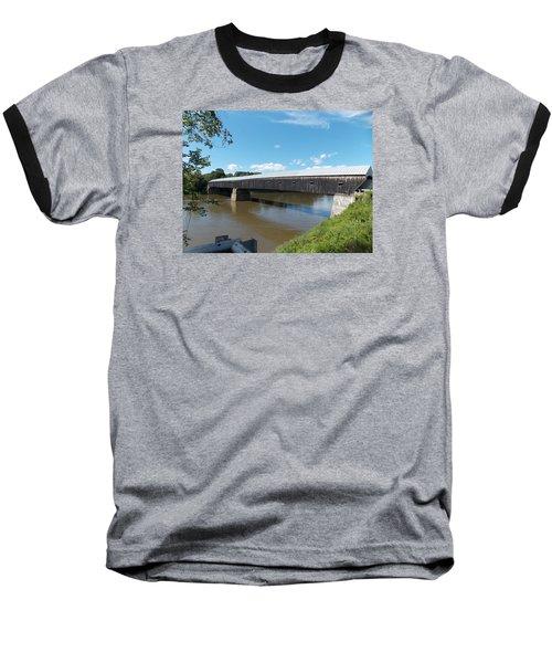 Cornish Windsor Bridge Baseball T-Shirt by Catherine Gagne