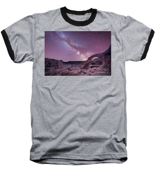 Corona Arch Milky Way Baseball T-Shirt by Michael Ver Sprill