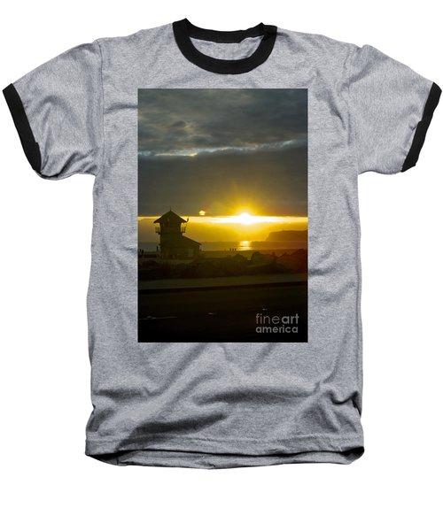 Coronado's Beach At Sunset Baseball T-Shirt by Claudia Ellis