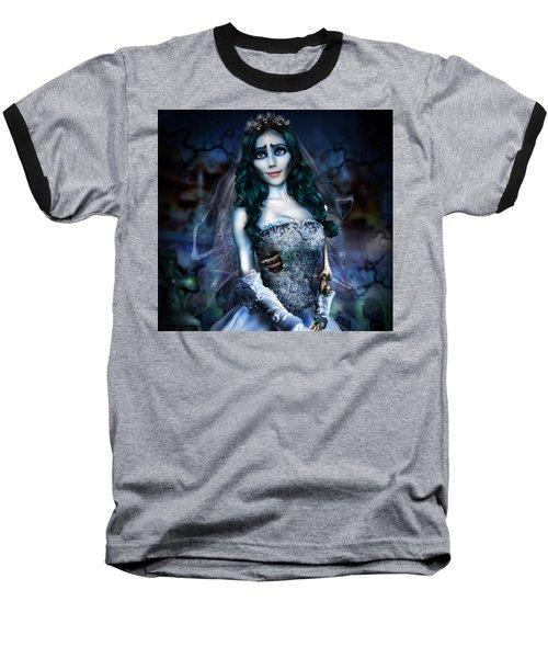 Corpse Bride Baseball T-Shirt by Alessandro Della Pietra