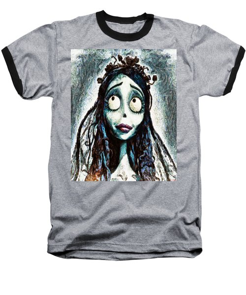 Corpse Bride Baseball T-Shirt by Joe Misrasi