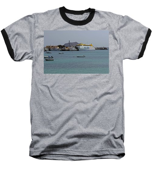 Corralejo Harbour Baseball T-Shirt