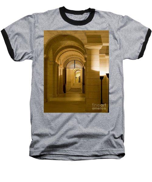 Corridors Baseball T-Shirt by Victoria Harrington