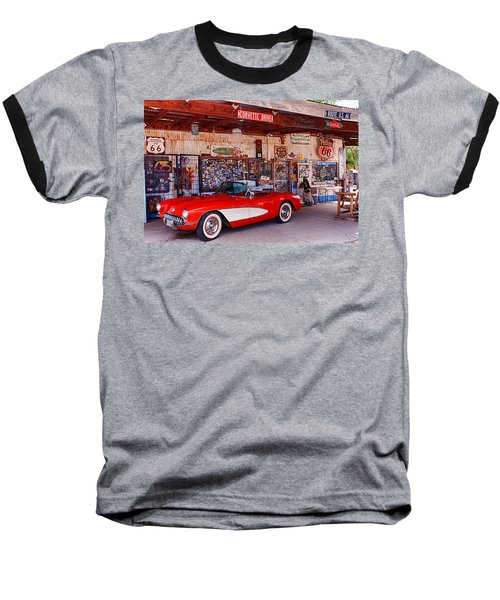 Corvette Drive Rt 66 Baseball T-Shirt
