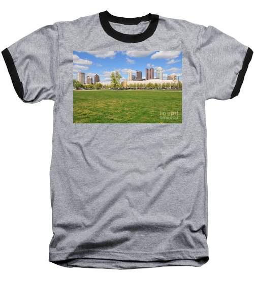 D7l-89 Cosi Columbus Photo Baseball T-Shirt