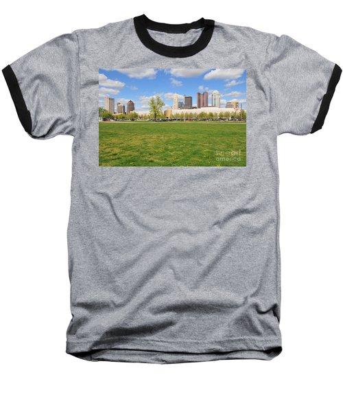 D7l-89 Cosi Columbus Photo Baseball T-Shirt