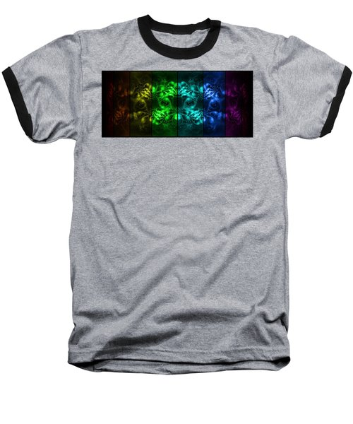 Cosmic Alien Eyes Pride Baseball T-Shirt