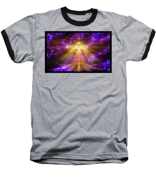Cosmic Angel Baseball T-Shirt by Shawn Dall