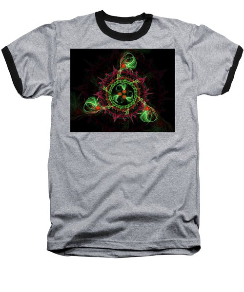 Cosmic Cherry Pie Baseball T-Shirt by Shawn Dall