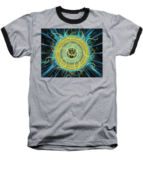 Cosmic Circle Fusion Baseball T-Shirt by Shawn Dall