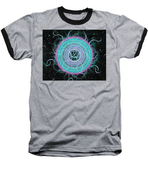 Cosmic Circle Baseball T-Shirt by Shawn Dall