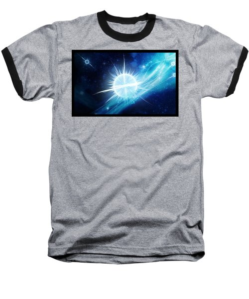 Cosmic Icestream Baseball T-Shirt by Shawn Dall