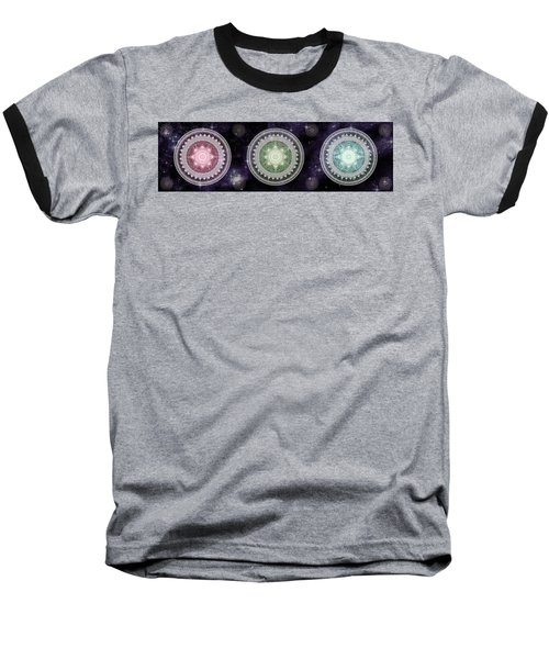 Cosmic Medallians Rgb 2 Baseball T-Shirt by Shawn Dall