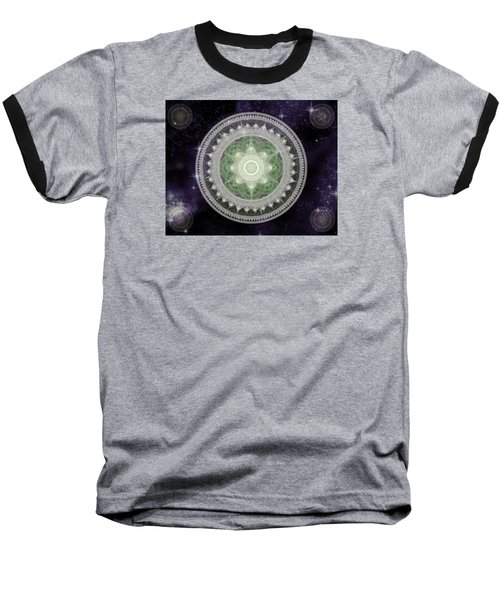 Cosmic Medallions Earth Baseball T-Shirt by Shawn Dall