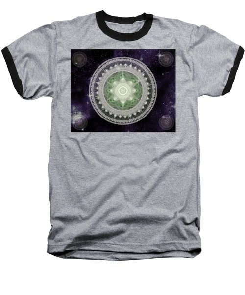 Cosmic Medallions Earth Baseball T-Shirt