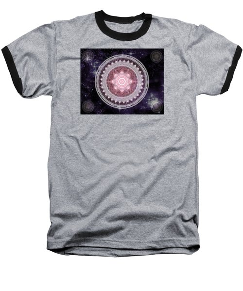 Cosmic Medallions Fire Baseball T-Shirt by Shawn Dall