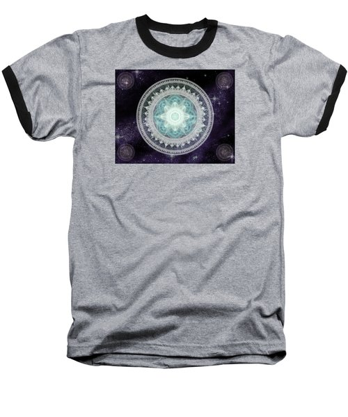 Cosmic Medallions Water Baseball T-Shirt by Shawn Dall