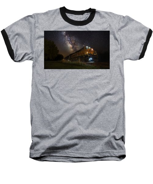 Cosmic Railroad Baseball T-Shirt