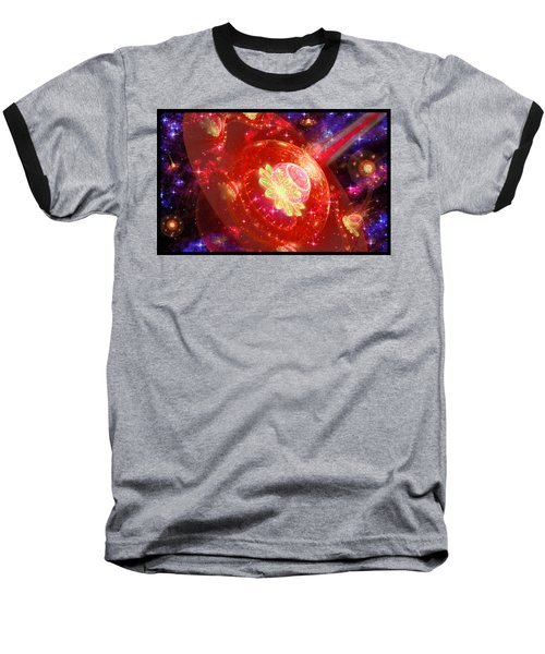 Cosmic Space Station Baseball T-Shirt by Shawn Dall