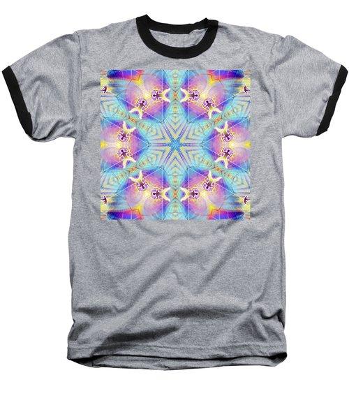 Cosmic Spiral Kaleidoscope 17 Baseball T-Shirt