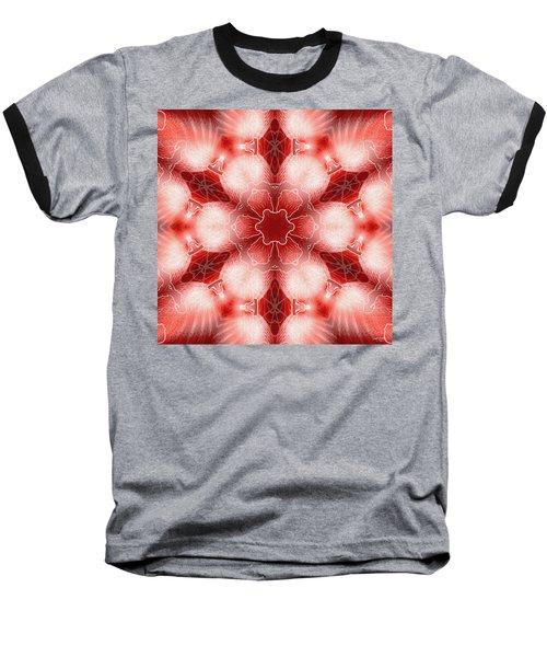 Cosmic Spiral Kaleidoscope 22 Baseball T-Shirt