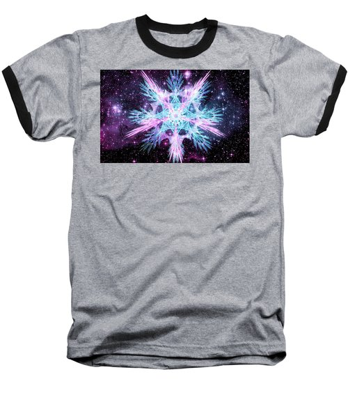 Cosmic Starflower Baseball T-Shirt by Shawn Dall