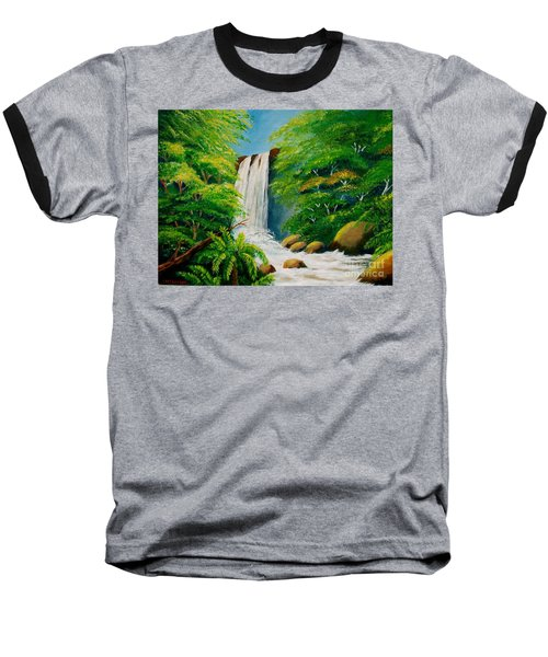 Costa Rica Waterfall Baseball T-Shirt