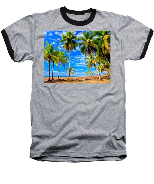 Baseball T-Shirt featuring the painting Costa Rican Paradise by Michael Pickett