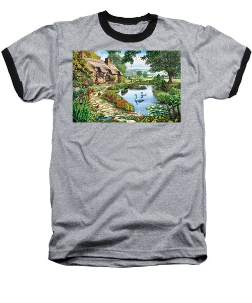 Cottage By The Lake Baseball T-Shirt