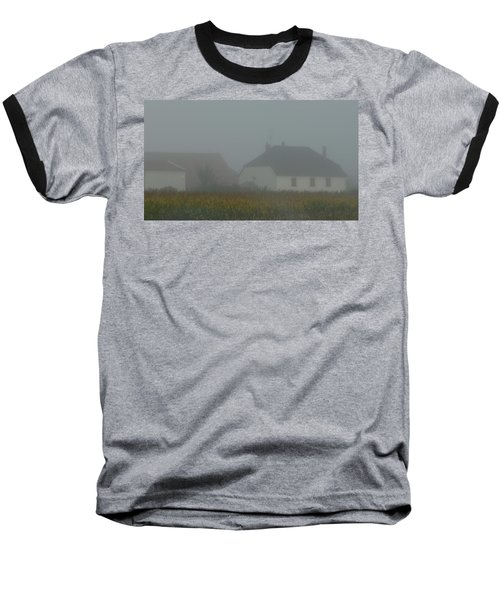 Cottage In Mist Baseball T-Shirt