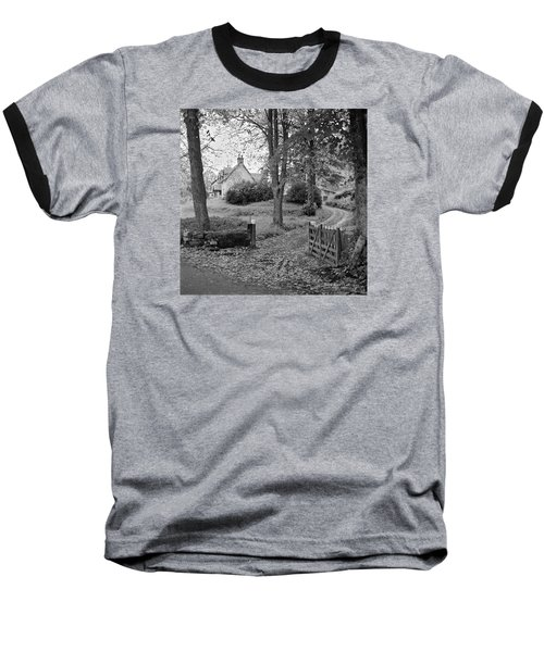 Baseball T-Shirt featuring the photograph Cottage On Loch Ness - Scotland 1972 - Travel Photography By David Perry Lawrence by David Perry Lawrence
