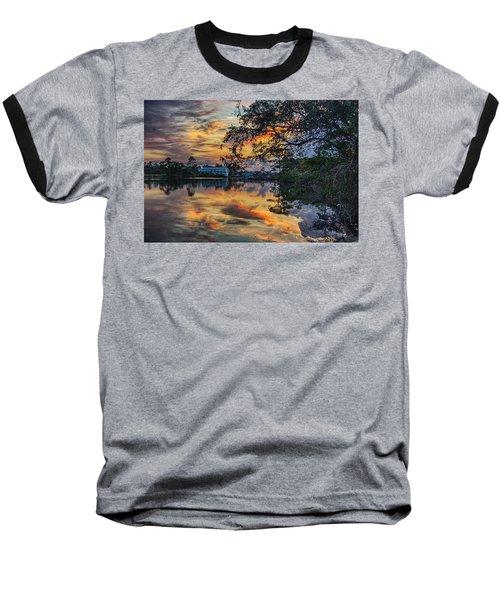 Cotton Bayou Sunrise Baseball T-Shirt by Michael Thomas
