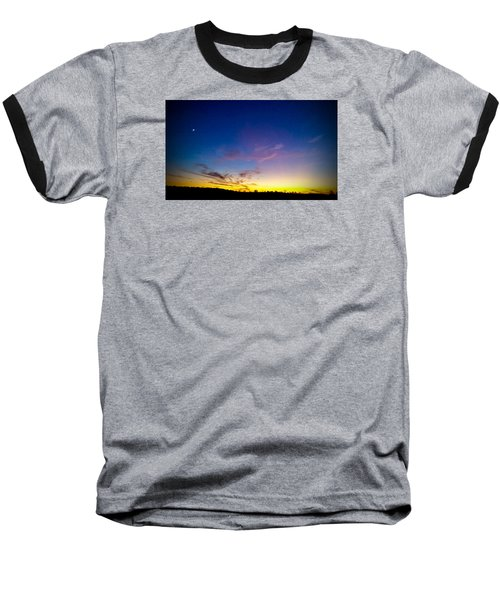 Baseball T-Shirt featuring the photograph Cotton Candy Clouds by Jean Haynes