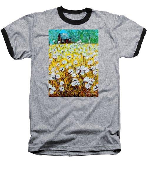 Cotton Fields Back Home Baseball T-Shirt by Eloise Schneider