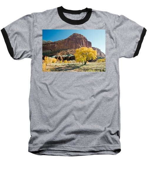 Cottonwoods In Fall The Castlecapitol Reef National Park Baseball T-Shirt