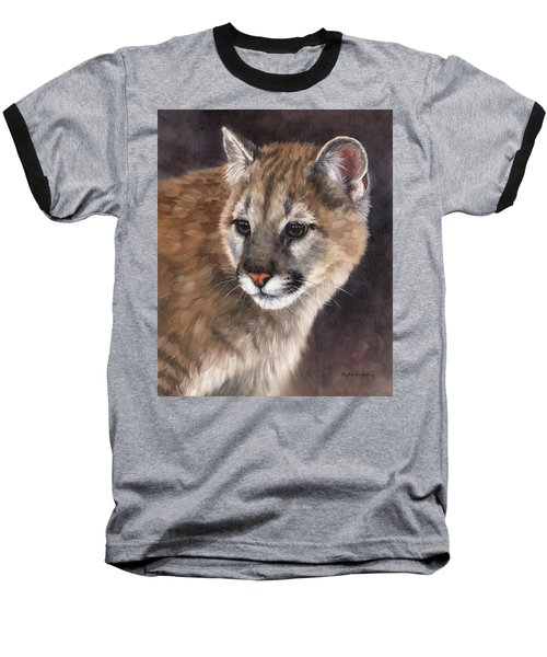 Cougar Cub Painting Baseball T-Shirt