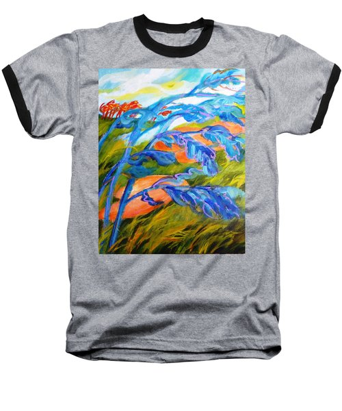 Count The Wind Baseball T-Shirt by Betty M M   Wong