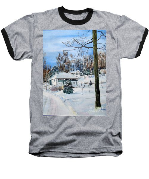 Country Club In Winter Baseball T-Shirt by Christine Lathrop