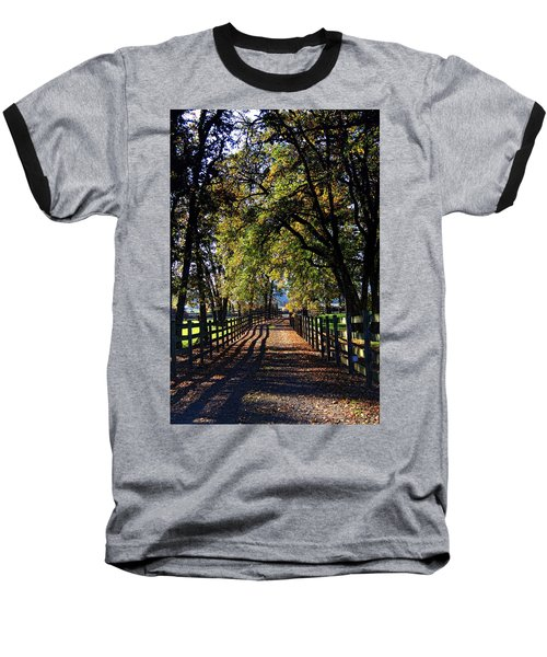 Country Drive Baseball T-Shirt by Aaron Berg