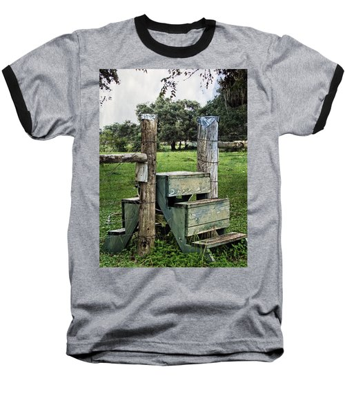 Baseball T-Shirt featuring the photograph Country Farm Fence Stile Crossing by Ella Kaye Dickey