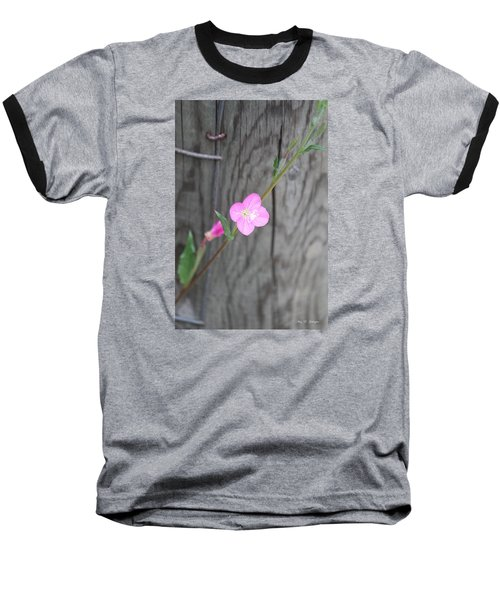 Country Flower  Baseball T-Shirt by Amy Gallagher