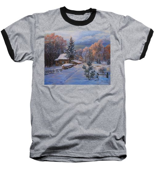 Country House In Winter Baseball T-Shirt
