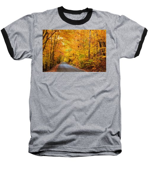 Country Road In Fall Baseball T-Shirt