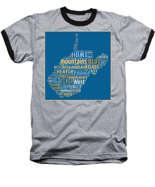 Country Roads 3 Baseball T-Shirt