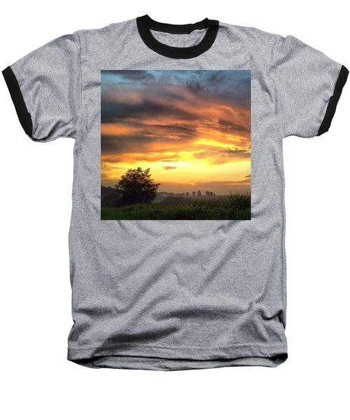 Country Scene From Hilltop To Hilltop Baseball T-Shirt