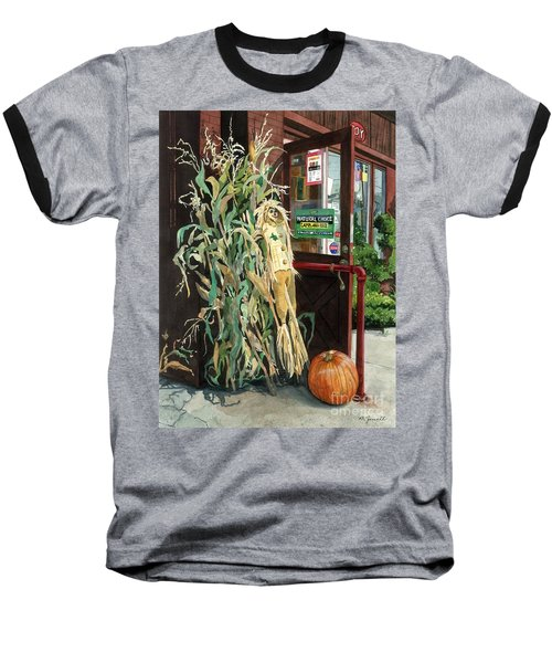 Baseball T-Shirt featuring the painting Country Store by Barbara Jewell