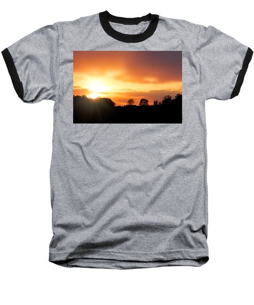 Country Sunset Silhouette Baseball T-Shirt