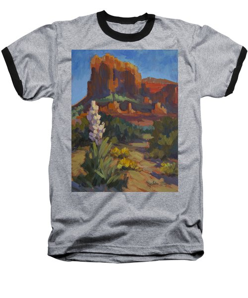 Courthouse Rock Sedona Baseball T-Shirt by Diane McClary