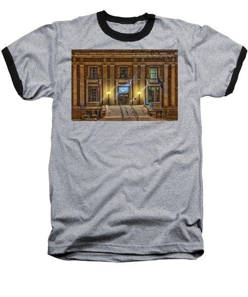 Courthouse Steps Baseball T-Shirt by Paul Freidlund