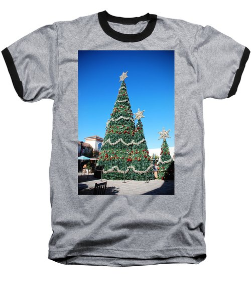 Courtyard Christmas Baseball T-Shirt